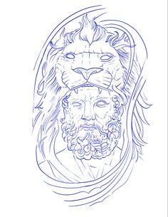 Baby Tattoo Designs, Lion Tattoo Design, Tattoo Design Drawings, Art Drawings Sketches, Tattoo Sketches, Baby Tattoos, Line Tattoos, Sleeve Tattoos, Jesus Christ Drawing