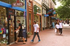 Boulder - specifically, Pearl Street Mall.