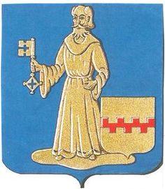 Dit is het wapenschild van Herenthout. Op het schild staat Sint Pieter de patroonheilige van Herenthout hij heeft een sleutel vast de sleutel van de Hemelpoort.