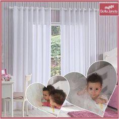 Linda e delicada a cortina Devorê Kids Poá encanta as crianças e os adultos! Prova disso, são nossas princesinhas Laura e Mariana que não querem mais largar a cortina!