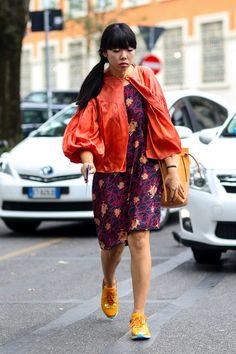 what's crackin Suze? tres tres interesting outfit. Milan. #SusieLau #StyleBubble