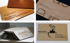 Tarjetas de visita de madera|Espacios en madera