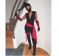 40 Trendy Party Outfit College Halloween Costumes - Real Time - Diet, Exercise, Fitness, Finance You for Healthy articles ideas Ninja Halloween Costume, Soirée Halloween, Last Minute Halloween Costumes, Couple Halloween, Sexy Ninja Costume, Halloween Inspo, Girl Halloween Costumes College, Women Halloween, Sexy Diy Costumes