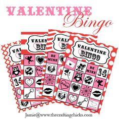 #valentine bingo