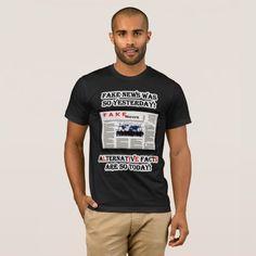 Fake News & Alternative Facts Am Apparel T-Shirt #FakeNews #AlternativeFacts #AmericanApparel #TShirt #mens #Zazzle #shirt