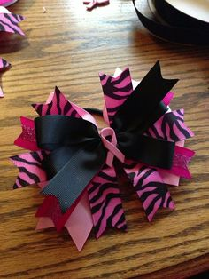 Breast Cancer awareness bow on Etsy, $10.00