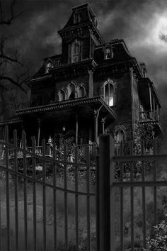 Dark haunted houses look really spooky and are very good settings for a horror film.