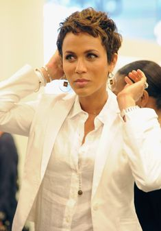 Nicole Ari Parker - Love this short pixie hair cut and color on her! makes me want to cut my hair!