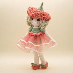 Amigurumi crochet DOLL muñeca flor de clavel dulce con