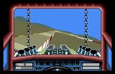 Stunt Car Racer - Atari ST - 1989. One of the earliest 3d games and nice to play.
