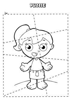 puzzle diy body parts Primary Activities, English Activities, Kindergarten Activities, Preschool Activities, Preschool Writing, Preschool Lessons, Body Parts Preschool, Teach English To Kids, Human Body Activities