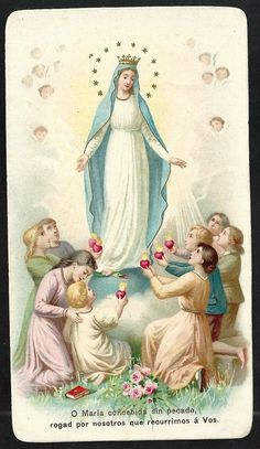 Estampa antigua de la Virgen andachtsbild santino holy card santini | eBay