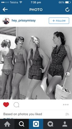Vintage Swimsuits, Beach Babe, Bikinis, Swimwear, 1950s, Retro, Fashion, Bathing Suits, Moda