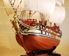 HMS Unicorn Model Ship Bow View