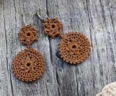 crochet earrings                                                                                                                                                                                 Más