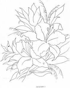 ESPAÇO DA CRIS: Riscos Pintura em Tecido - Flores e Rosas