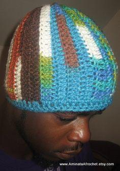 Spunky Papy Cap by AminataAfrochet on Etsy, $20.00