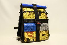 pinza't    NEW Back Pack XXL : recycled hand painted bags