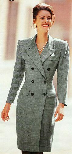 Lawyer Fashion, 80s Fashion, Work Fashion, Vintage Fashion, Fashion Design, Fashion Trends, Summer Business Attire, Chic Outfits, Fashion Outfits