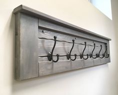 Excited to share the latest addition to my #etsy shop: Huge Rustic Wooden Entryway Walnut Coat Rack, Rustic Wooden Floating Shelf, Entryway Rack, Coat Rack, Rustic Home Decor, Rustic Furniture