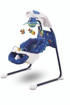 Fisher-Price H7184 Baby Gear - Mecedora automática para bebé, diseño marino