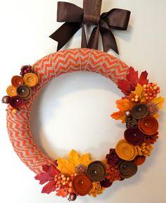 Modern Fall Wreath-Fall Door Wreath-Fall Felt by TheBeautifulDoor