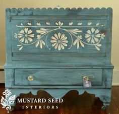milk painted chest
