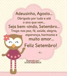 Bem vindo Setembro Messages, Words, Inspiration, Google, Good Morning Messages, Hello September Quotes, Welcome May, Blouse, Places