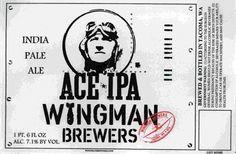 Cerveja Ace IPA, estilo India Pale Ale (IPA), produzida por Wingman Brewers, Estados Unidos. 7.1% ABV de álcool.