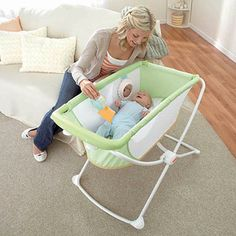 Fisher-Price Green Rock 'n Play Portable Bassinet