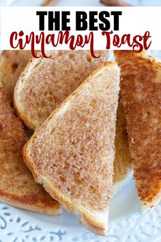 Make the best cinnamon toast in the oven, stove or air fryer. 3 easy methods for making delicious cinnamon toast. Brunch Recipes, Breakfast Recipes, Snack Recipes, Dinner Recipes, Cooking Recipes, Breakfast Ideas, Dinner Ideas, Savory Breakfast, Best Breakfast
