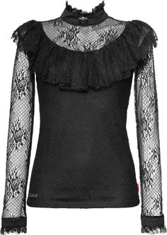 Black gothic lace top by Queen of Darkness