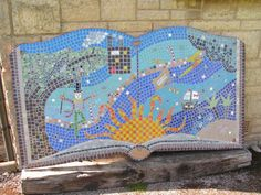 World Book Day - The Big Book Mosaic Mosaic Projects, Big, School, Books, Home Decor, Libros, Decoration Home, Room Decor, Book