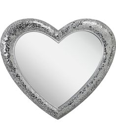 Buy Crackle Heart Wall Mirror - Silver at Argos.co.uk - Your Online Shop for Mirrors.