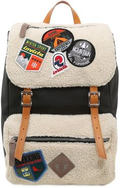 9ab0757f78 Invicta My Jolly Canvas Backpack W/ Patches Carbone, Cerotti, Zaini