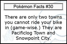 Cool Pokemon Facts: #30.u also can't using treehouse town