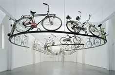 """Rauminstallation zum Thema: """"Schöner Verkehr"""" - Außergewöhnliche Fahrräder"""