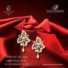 Beautifully designed diamond earring.