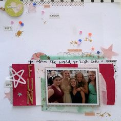 #papercrafting #scrapbook #layouts: Girls Just Want to Have Fun by juliee at @studio_calico