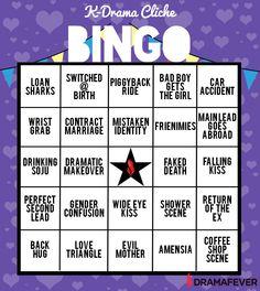 K-drama Bingo! The perfect way to enjoy K-drama cliches!