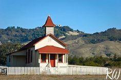Old School House, San Simeon, California