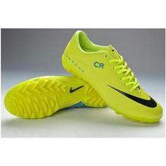 http://www.asneakers4u.com Nike Mercurial Vapor IX CR7 TF Boots   Fluorescent Green Black New Soccer Shoes May
