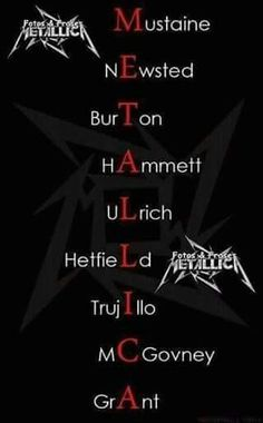 ~METALLICA....ONE OF MY Favez