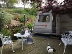 Billie My old revamped Abbey Piper caravan takes up summer position as guest accommodation/summer house!
