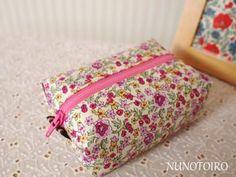 マチ針いらずのファスナーポーチ 無料型紙ダウンロード | NUNOTOIRO