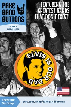 Rockabilly Band Button, Featuring Elvis Is Our Dad Rockabilly Bands, Rockabilly Fashion, Band Logo Design, Cool Kids Club, Tell The World, Button Badge, Band Logos, Great Bands, How To Know