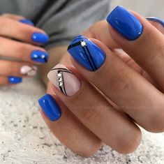 Luv this color blue , cant wait to go to the nail salon & try this next. - Luv this color blue , cant wait to go to the nail salon & try this next. Cute Acrylic Nails, Acrylic Nail Designs, Nail Art Designs, Nail Manicure, Diy Nails, Nail Polish, Nagellack Trends, Artificial Nails, Flower Nails