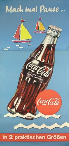 Coca-cola old, year 1958 in Germany