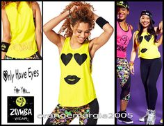 ZUMBA For Your Eyes Only Tank Caution EliteZWear VALENTINE'S DAY - SHIPS FAST!  #ZumbaFitness #TankTeeTopZ1T01167