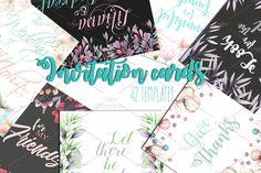 Invitation cards 42 templates by Skliarova on @creativemarket